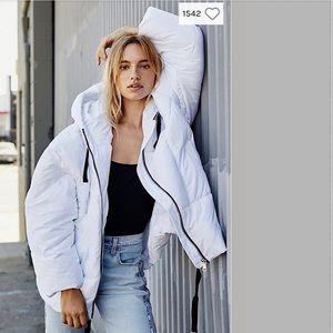 Free People Hailey Puffer Coat Jacket White NWT